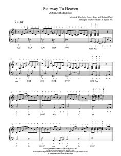 Stairway To Heaven by Led Zeppelin Piano Sheet Music | Advanced Level