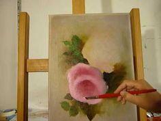 Hoe schilder je een Roze Roos 2, Gary Jenkins techniek. Gary Jenkins, Bob Ross Paintings, Painting Videos, Art Tutorials, Folk Art, Projects To Try, Flowers, Artist, Artwork