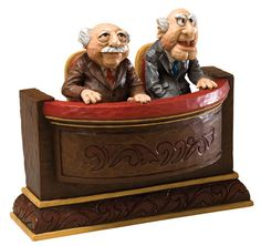 Disney Traditions Statler and Waldorf Muppets Jim Shore statue