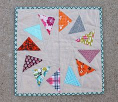 Pear Tree Stitching: Circle of Geese - July's Bee Block!
