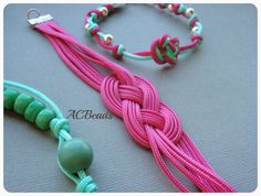 My jewellery made with Chinese knotting cord  #ACBEADS