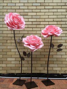 Flor gigante de papel papel rosa flor pared/de la boda de