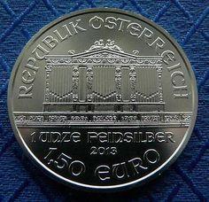 1 UNZE (OZ) – ÖSTERREICH – WIENER PHILHARMONIKER – 999/1000 SILBER 2013sparen25.com , sparen25.de , sparen25.info