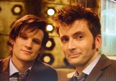 Matt Smith and David Tennant. I think this is too much for one picture...