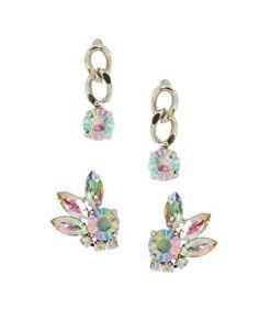 ASOS Stone & Mini Drop Earrings