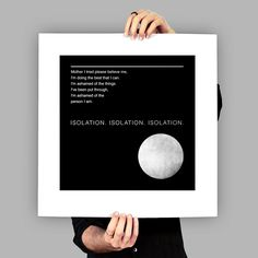 Joy Division - Art Print / Poster - Isolation - Ian Curtis - New Order - Manchester - Post-Punk - Minimal Art - Music Lyrics Joy Division, Isolation Quotes, The Smiths, Ian Curtis, Sister Love, Vintage Typography, Post Punk, Andy Warhol, Print Poster