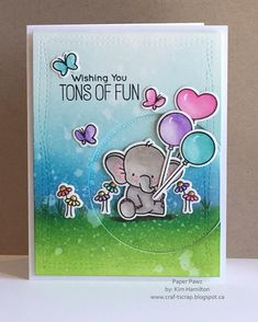 Sunday fun with @mftstamps #adorableelephants #distressink