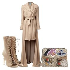 """Trench coat vixen"" by lovelaviedaily on Polyvore featuring Jonathan Cohen, Balmain and Gucci"