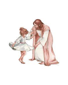 Jesus dances with little girl Dancing With Jesus, Little Girl Dancing, Jesus Art, God Jesus, Love One Another Quotes, Bibel Journal, Pictures Of Jesus Christ, Prophetic Art, Daughter Of God