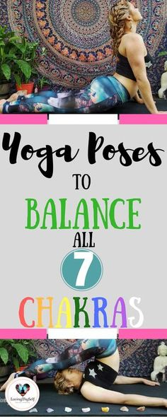 Beginner and advanced healing yoga poses for all 7 chakras. These yoga poses are great for balancing and awakening all 7 chakras: root chakra, sacral chakra, solar plexus chakra, heart chakra, throat chakra, third eye chakra, and crown chakra. I have also included positive affirmations to say during each yoga pose. #chakrayoga #healing #yoga #poses #beginners #advanced #root #solarplexus #heart #sacral #throat #thirdeye #healingcrystals #crown