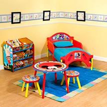 Etonnant Walmart: Mickey Mouse Clubhouse Room In A Box Mickey Mouse Toddler Bed