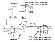 MXR Distortion Plus Mods - Electronic schematics Mods that will take your MXR Distortion Plus to a bigger, meaner level - Electronics Projects, Electronics Basics, Dc Circuit, Circuit Diagram, Guitar Effects Pedals, Guitar Pedals, Mxr Distortion, Diy Guitar Amp, Bass