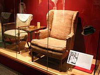 Archie and Edith Bunker's chairs on display in the Smithsonian National Museum of American History.