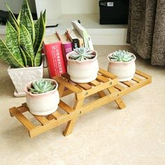 Image result for Indoor Potted Shelf Bamboo Plant Stand On Desk For Succulents Plants Patio Tier Bathroom Wood Shelves, Desk Shelves, Bathroom Wall Decor, Potted Plants Patio, Bamboo Plants, Buy Bamboo, Indoor Plants, Indoor Plant Shelves, Small Flower Pots