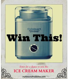 I Love This Ice Cream Maker By Cuisinart It Was