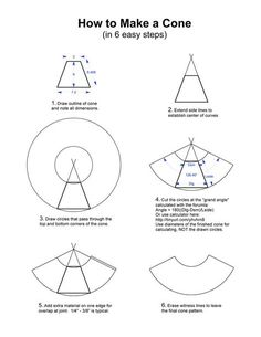 How to Make a Cone and Cone Calculator