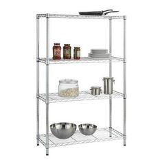 Stacking vertically can maximize your storage in a small space. This storage solution from HDX would be perfect in your kitchen or garage.
