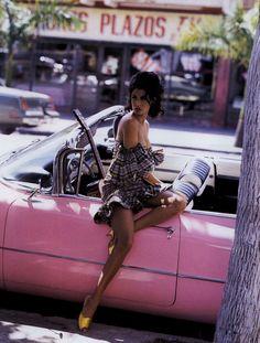 """Cuba Libre"" from Harper's Bazaar May 1992 Road Trip Cuba, Film Shot, Kara Young, 90s Fashion, Vintage Fashion, Retro Fashion, Pin Up, Harper's Bazaar, Provocateur"