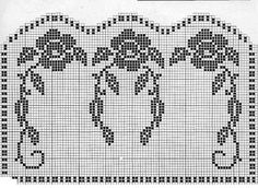 Crochet Rose Filet Chair Set – Grandmother's Pattern Book