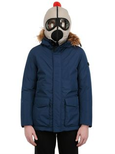 AI RIDERS ON THE STORM ZIP UP 3 LAYER PARKA WITH FUR TRIM $ 897.00