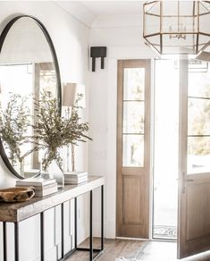 Modern Farmhouse Entry Styling – Entrance style in a modern farmhouse – Here is some information about modern lifestone and wood are a must for modern rustic spacesRustic floral decoration in a shabby chic style Decor, Home Decor Inspiration, House Design, Interior, Home, House Inspiration, New Homes, House Interior, Entry Styling