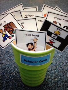Behavior Cards Autism