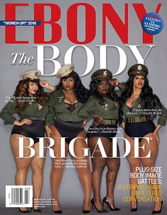 gabi fresh, jazmine sullivan, danielle brooks + chrisette michele on the cover of ebony magazine (3.2016)