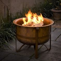 31 Rustic Fire Pit (Acadia)- solid copper - made in Turkey