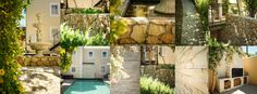 Clever use of cladding through this garden.Creates a French feel. Patio Slabs, Paving Stones, Cladding, Firewood, Clever, Alternative, French, Traditional, Landscape