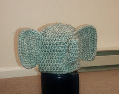 elephant hat size 06 months  ready to ship by isabellaandviolet, $16.00