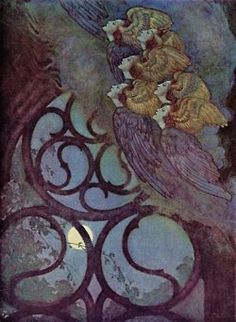 Edmund Dulac, illustrations for The Poems of Edgar Allan Poe