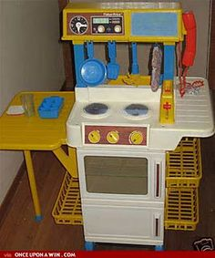 Fisher Price kitchen. I had this and all of the accessories that went with it. I wish I still had it all!