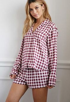 Gingham Plaid PJ Set | Forever 21 - 2000173107