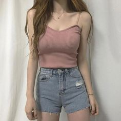 Look at this Stylish korean street fashion Korean Street Fashion, Korean Girl Fashion, Korean Fashion Trends, Ulzzang Fashion, Asian Fashion, Casual Outfits For Teens, Summer Outfits, Edgy Outfits, Teen Outfits