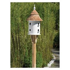 Lazy Hill Farm Ultimate Martin Bird House with Blue Verde Copper Roof - 43426 - Bird Houses & Feeders Purple Martin House, Large Bird Houses, Cedar Posts, Cedar Roof, Copper Roof, Bird House Kits, Diy Bird Feeder, 5 D, Home And Garden