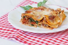 Lasagna with homemade grain-free noodles