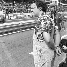 1 Unpublished at the 1975 Le Mans Homage to Coluche photographed by me okaio Inédit au le Mans 1975 Hommage à Coluche photographié par moi okaio