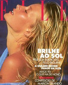 Estelle Lefebure - Elle Brasil 1989 by Marc Hispard: Beauty Magazine, Elle Magazine, Natalia Vodianova, Claudia Schiffer, Lily Aldridge, Heidi Klum, Cindy Crawford, Fashion Magazine Cover, Magazine Covers