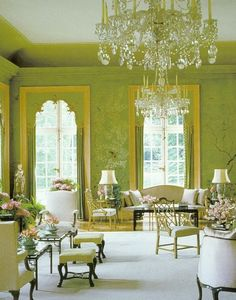 Drawing room by William Haines at Winfield House in London, the residence of United States' Ambassador to Great Britain.
