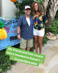My friend. My coach. One of the brightest souls and kindest spirits I know  is headed to Kona.  So blessed to be able to spend time w Jen at her official #sanantonio Send-off. #crushit #godspeed #ironzen #ironman @coachjenrulon