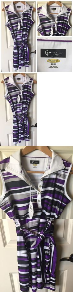 Skirts Skorts and Dresses 179003: Greg Norman Womens Golf Dress Outfit Collared Play Dry Purple Multi Belted Nwt -> BUY IT NOW ONLY: $37.5 on eBay!
