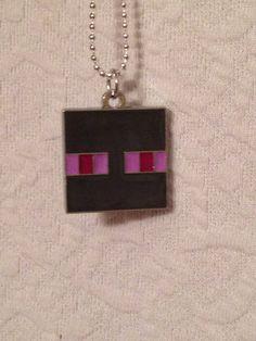 Minecraft Enderman Necklace on Etsy, $7.77