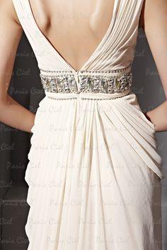 Vestidos de Fiesta Largos Champagne Gasa | Paris Ciel Beige Evening Dresses, Elegant Dresses, Sexy Dresses, Party Dresses 2014, Dress Picture, Wedding Attire, Homecoming Dresses, Volants, Wedding Styles