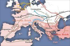 De grote volksverhuizing tussen de 2de en 5de eeuw.