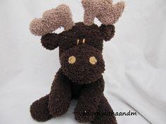 MOOSE Stuffed Animal - Moose Plushie - Moose Plush - Sockimamy Moose - Moose Toy - Hand Stitched Moose Stuffed Animal - Handmade Moose Toy