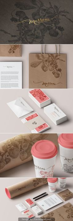 Marrons Pastry Shop Branding by Gilanyi Nora | Fivestar Branding Agency – Design and Branding Agency & Curated Inspiration Gallery http://jrstudioweb.com/diseno-grafico/diseno-de-logotipos/