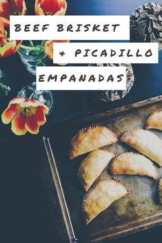 Beef Brisket and Picadillo-Stuffed Empanadas Recipe Beef Empanadas, Empanadas Recipe, Medium Rare Steak, Good Food, Yummy Food, Braised Beef, Minced Onion, Beef Casserole, Brisket