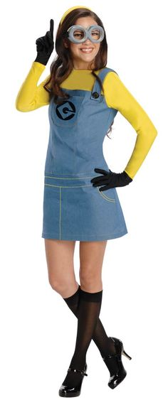 Halloween Costume! Despicable Me Female Minion Adult Costume - Halloween Costumes
