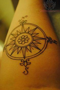 compass tattoos | Rib Side Compass Tattoo