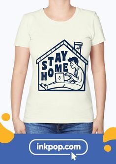 Home Office T-Shirts | You've probably noticed how easy it is to wear PJ's from noon to night, those days are gone! Customize your Stay Home T-shirt and get yourself some motivation!  #stayhome #outfit #netflix #staysafe #customprintedshirt #wearinkpop #quarantine #quarantineT-shirts #WFTt-shirts #HomeOfficeTshirts #StayHomeShirt Home T Shirts, Tool Design, V Neck T Shirt, Netflix, What To Wear, T Shirts For Women, Motivation, Night, Easy